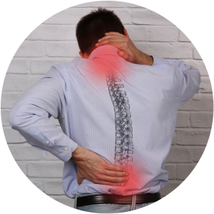 A guy who is suffering from 'Thoracic degenerative joint disease' at Complete Medical Wellness New Jersey