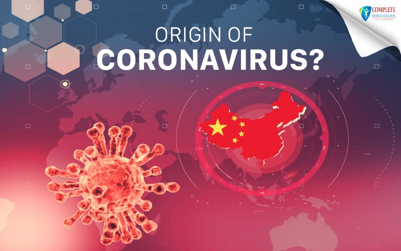 A visual of 'Coronoavirus' originated from China Map