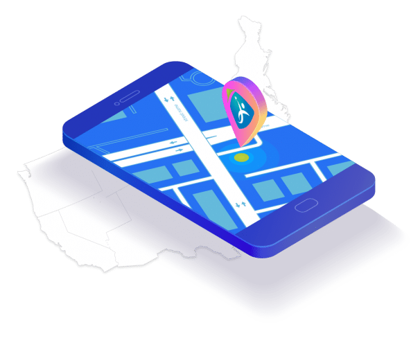 Demonstration of CMW pin point location at maps on a cellphone