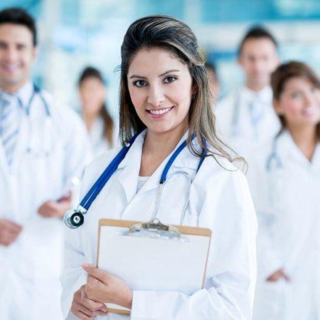 A portrat of 'doctors team', complete medical wellness