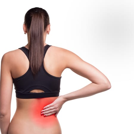 A woman is having 'Neuro Spine' problem in 'lower back'